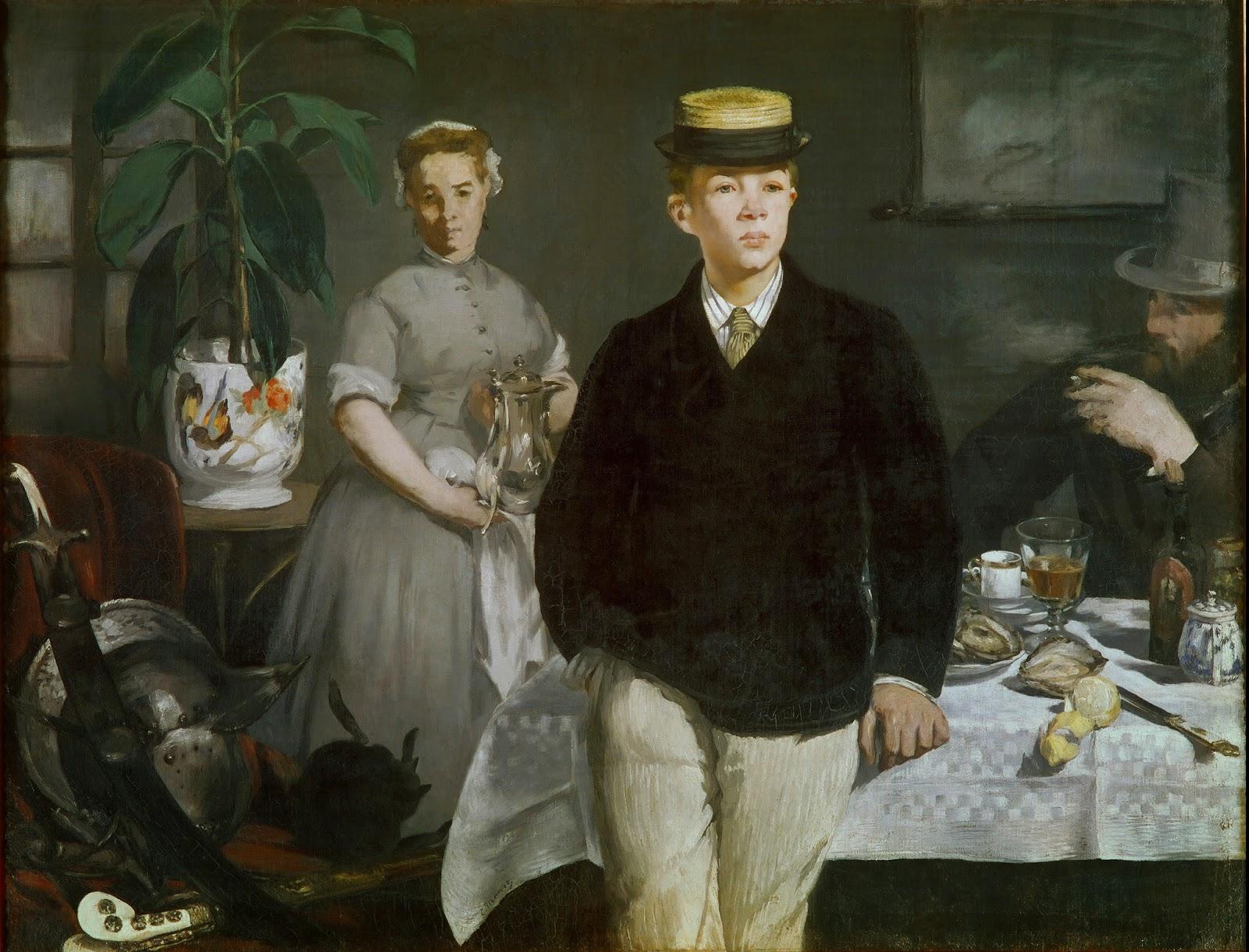 Édouard Manet, El almuerzo en el estudio (1868), Neue Pinakothek, Munich