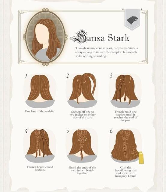 cómo hacerse el peinado de Sansa Stark - Juego de Tronos en los siete reinos