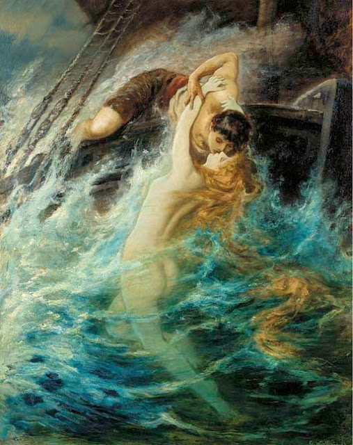 SIEMPRE...SIEMPRE.....      ღ¸¸.•♥ღ¸¸.•♥ღ¸¸.•♥ღ¸¸ - Página 7 Gustav-Wertheimer-Austrian1847-1904The-kiss-of-the-siren+(1)
