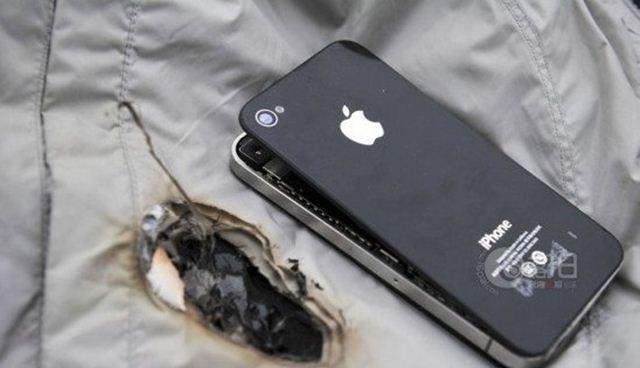 iphone 4 terbakar
