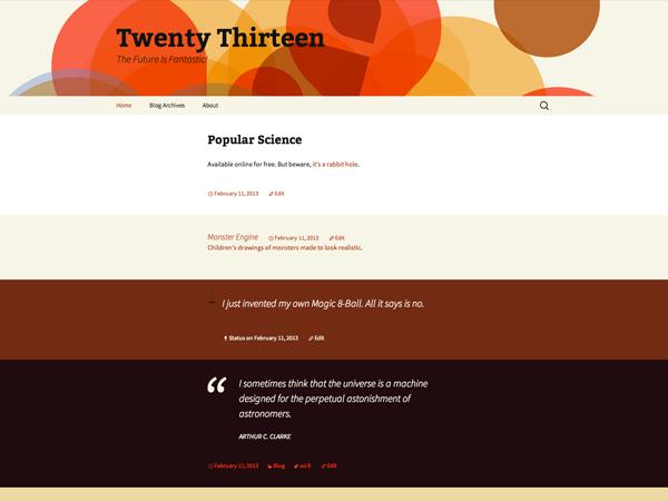 Twenty Thirteen, el nuevo tema predeterminado de WordPress | No solo ...