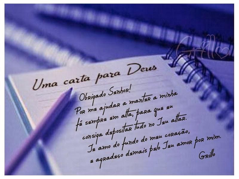 As cartas mais lindas que podemos escrever para Deus não sãoescritas ...