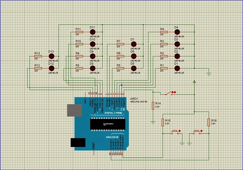 Microcontroller projects simulated a binary clock with