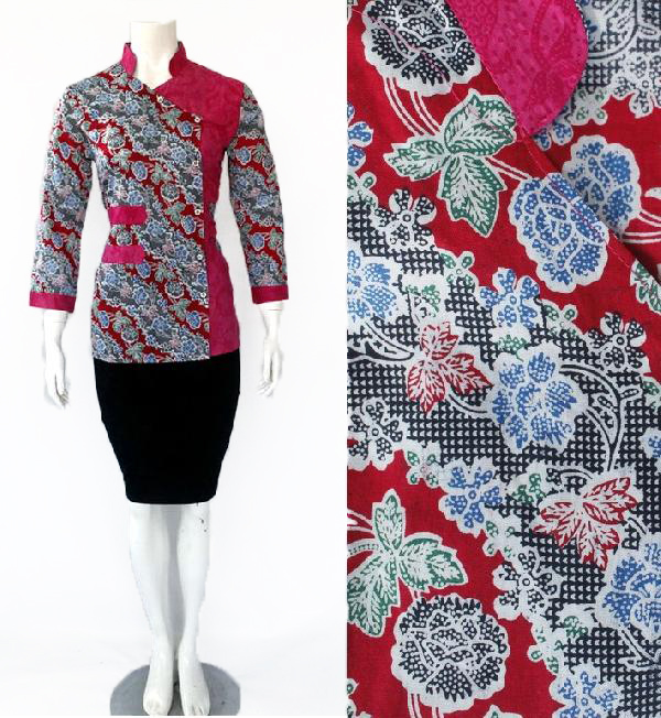 Model Blouse Batik Embos DBT 4193