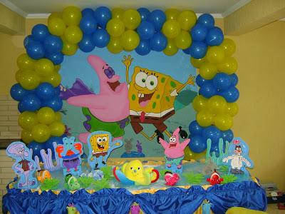 Melhores decorações festa aniversário infantil Bob Esponja