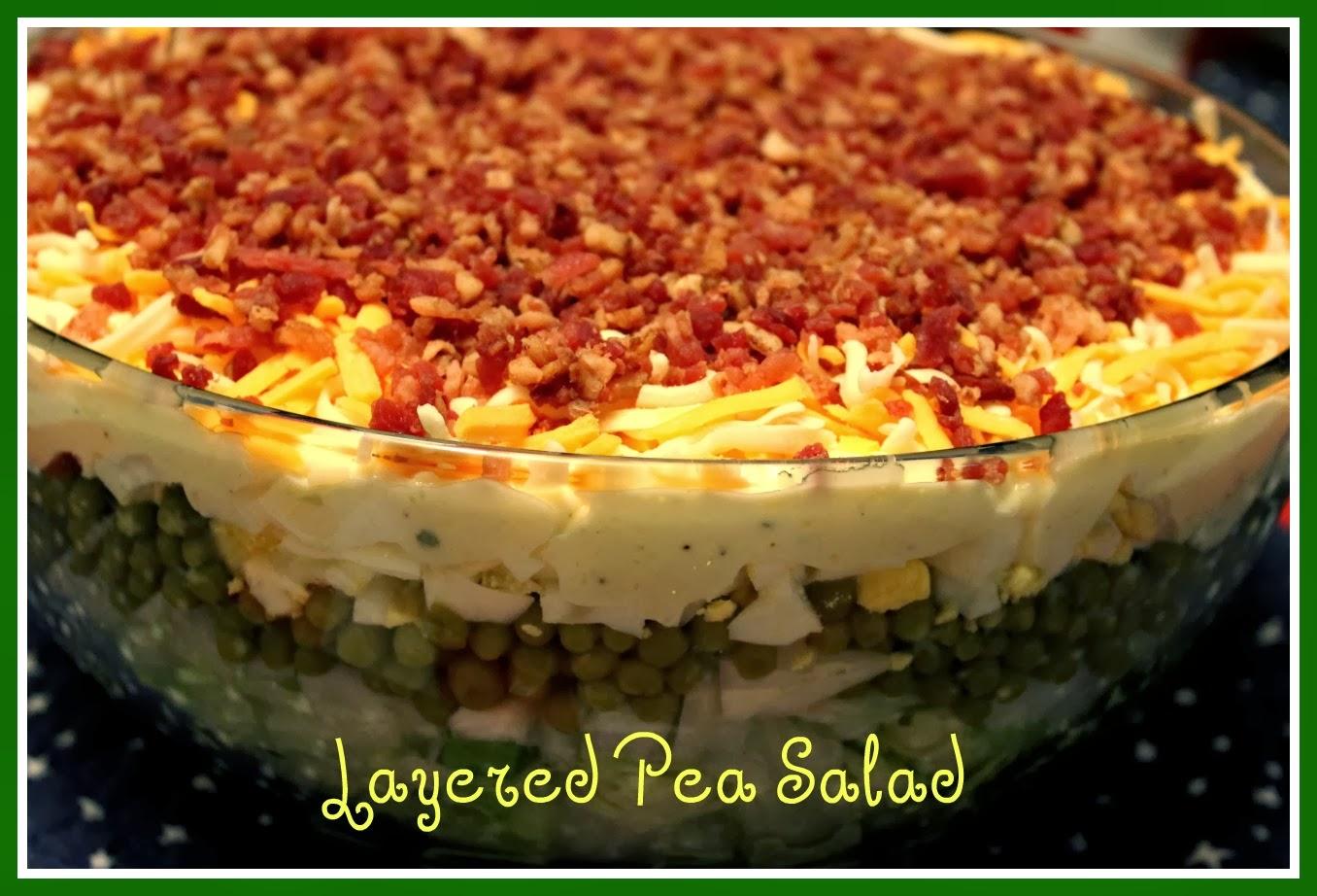 Layered Pea Salad!