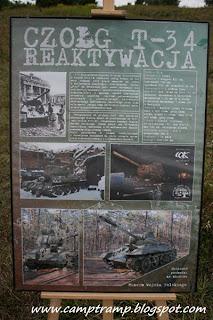 Czołg T-34 - Tablica informacyjna
