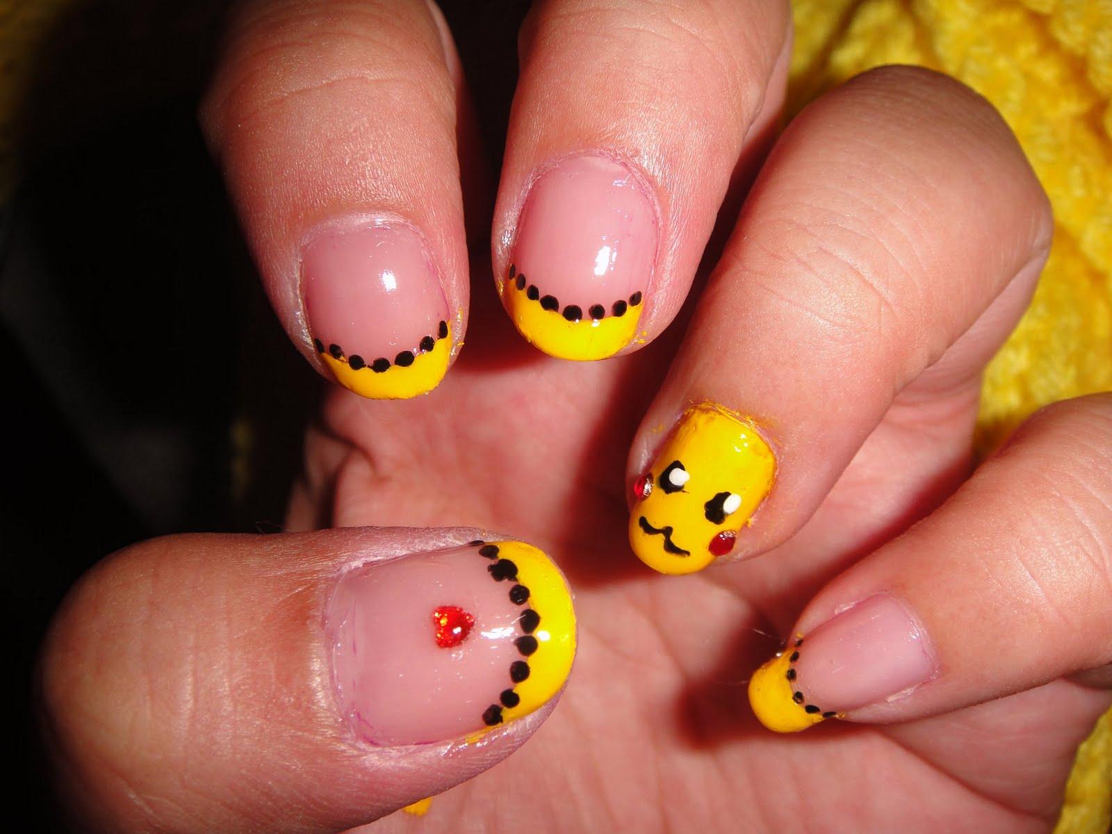 Juicy Nails & Makeup!: Pikachu Nails @ Anime Expo