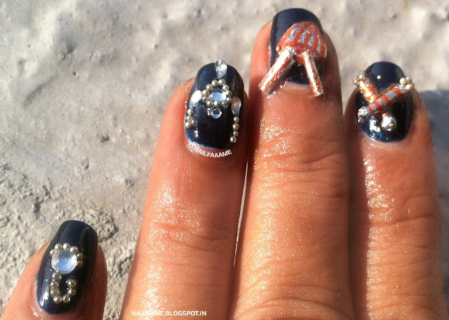 NAVRATRI NAILART NAILFAME NAILART BLOG INDIA