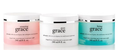 Philosophy, Philosophy Milestones, Philosophy Milestones QVC, Philosophy Whipped Body Creme Trio Amazing Grace Living Grace Pure Grace