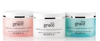 Philosophy, Philosophy Milestones, Philosophy Milestones QVC, Philosophy Whipped Body Creme Trio Amazing Grace Living Grace Pure Grace