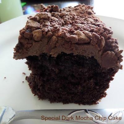 Special dark mocha chip cake