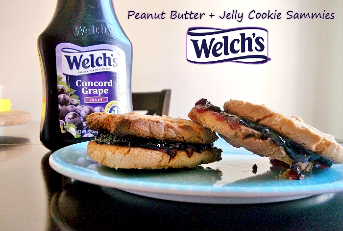 Peanut Butter and Jelly Cookie Sammies