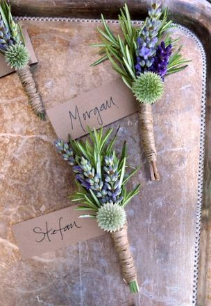 A Super Fragrant Wedding? Yes, with Rosemary and Lavender