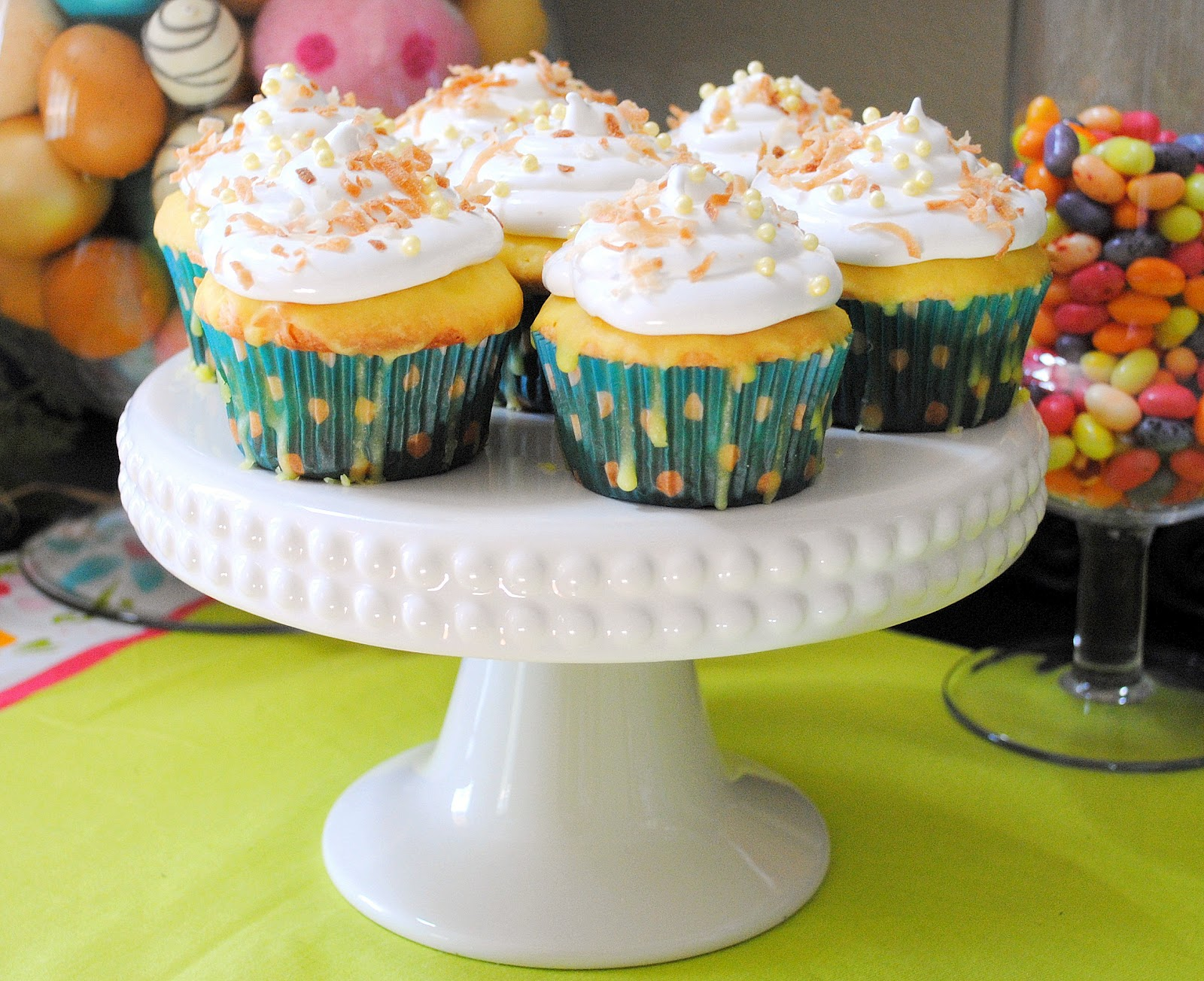 ... Cupcake of the week... Lemon-Coconut with Coconut Meringue Frosting