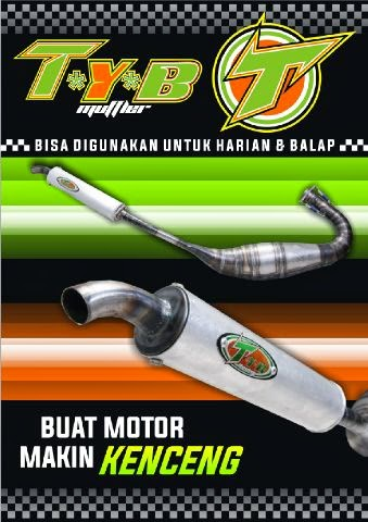 TYB RACING MUFFLER BY : KOLOR IJOP