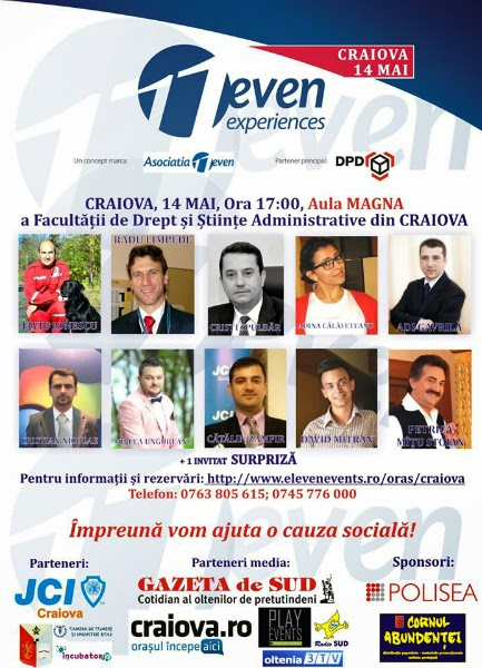 11even Experiences Craiova - 14 Mai