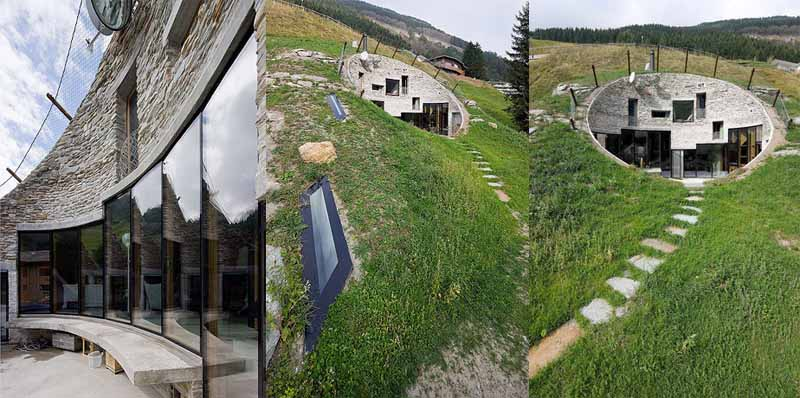 The House Inside A Hill Villa Vals Switzerland Things