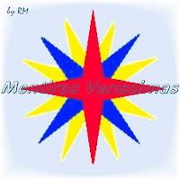 A rosa-dos-ventos, figura representativa dos pontos de orientação na Terra: Cardeais, Colaterais e Subcolaterais