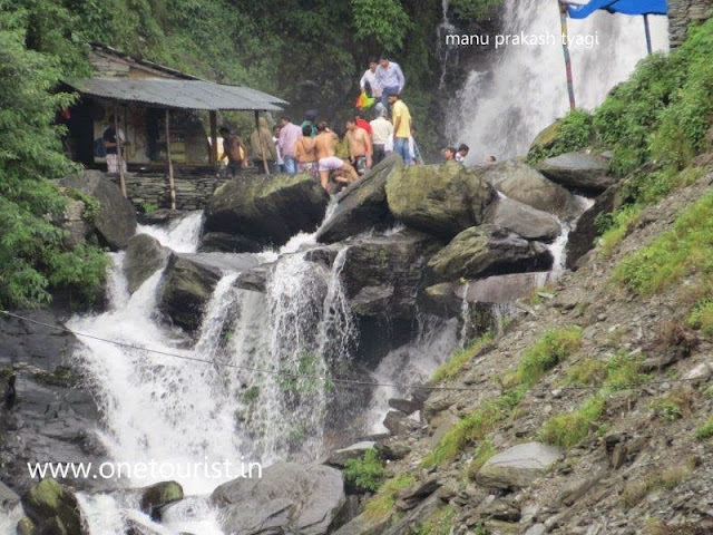 Bhagsu naag waterfall in dharamshala , himachal pradesh