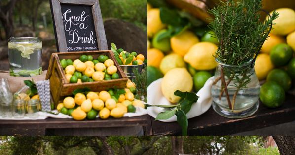 Ideas para fiestas decorar con limones for Decoracion mesas fiestas