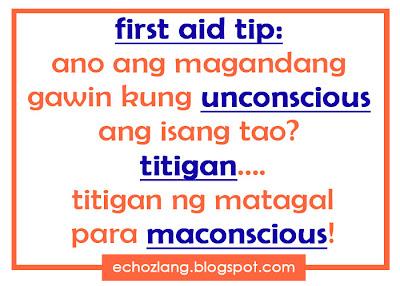 First Aid Tip: Ano ang magandang gawin kung unconcious ang isang tao?