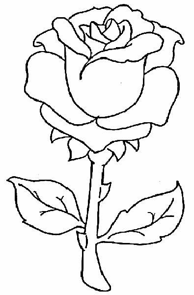 Dibujos de rosas para colorear Dibujos para Colorear