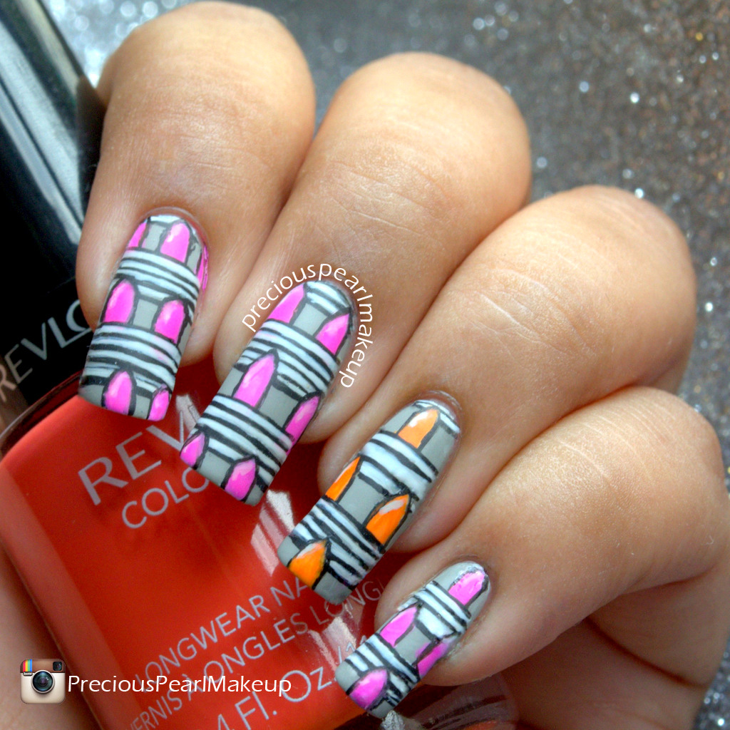 preciouspearlmakeup: Abstract Lipstick Nails and Tutorial