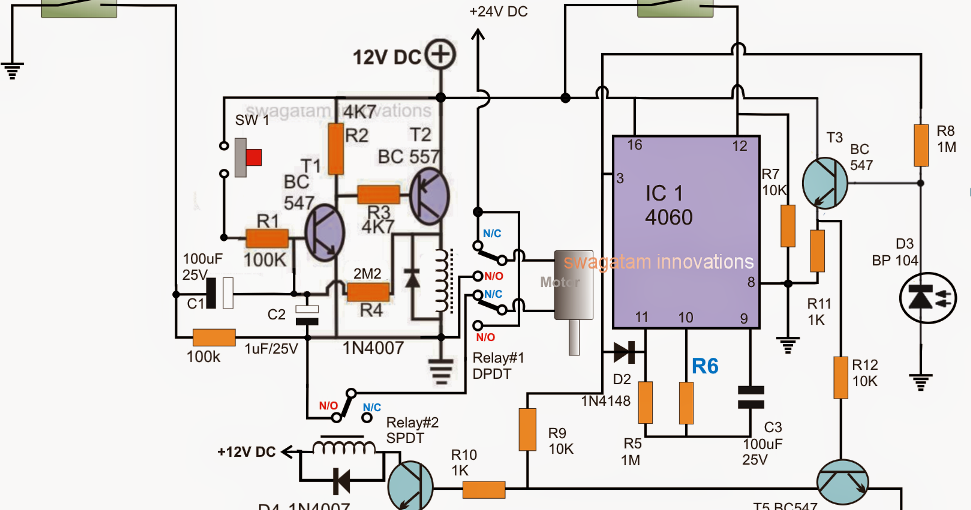 Automatic Sliding Gate Controller Circuit Electronic