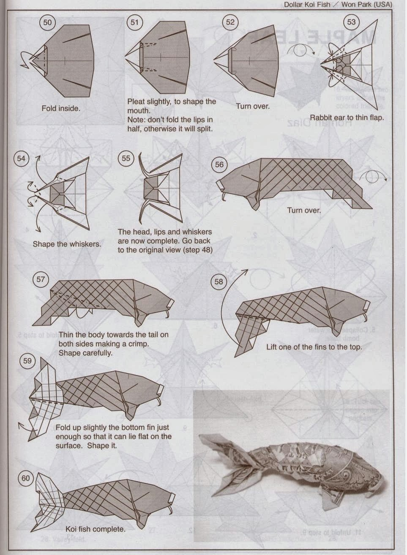 dollar koi fish el arte del origami