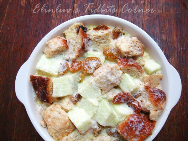 Elinluv's Sweet Delights: Apple Rum Raisin Bread Pudding