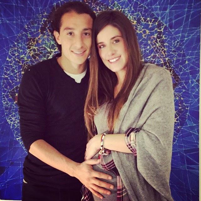 Andrés Guardado y su esposa embarazados
