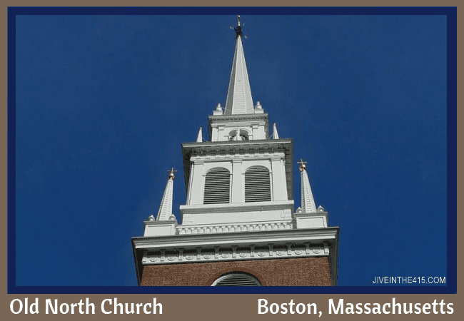 Boston's Old North Church steeple