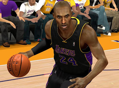 NBA 2K13 Lakers 'Hollywood Nights' Black Jersey Mod