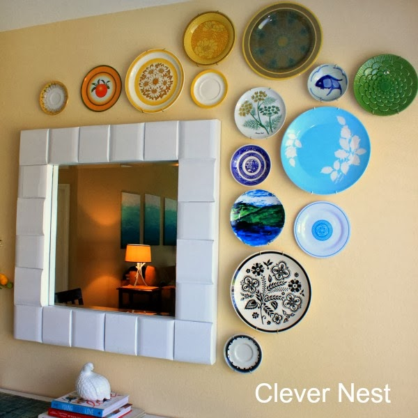 how to hang a flawless plate wall #diy #clever_nest #yearofcrafts