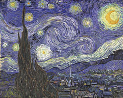 Vincent van Gogh: Nuit étoilée (Saint-Rémy-de-Provence), 1889