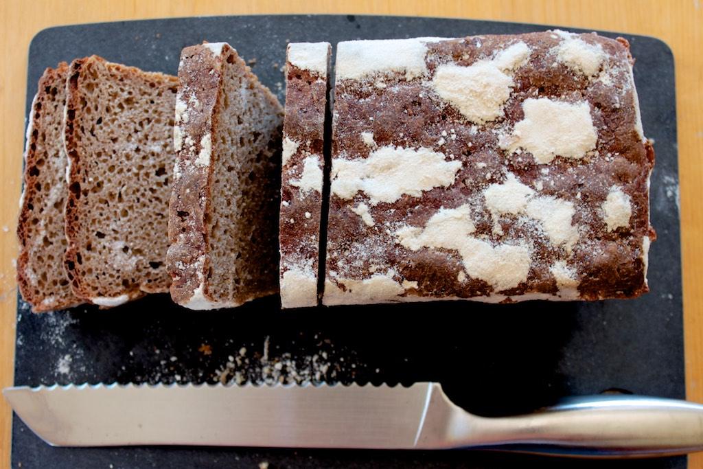 receta pan de centeno
