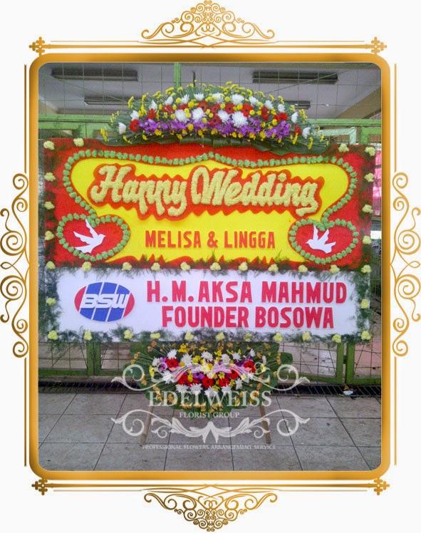 papan bunga pernikahan murah
