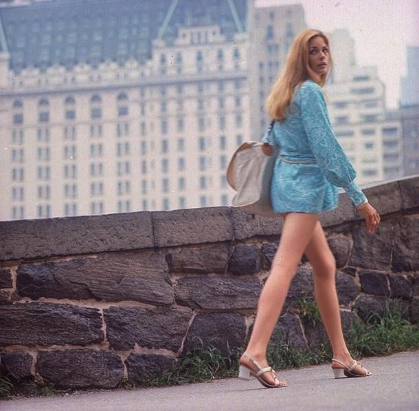 Young girl wearing Mini Skirt