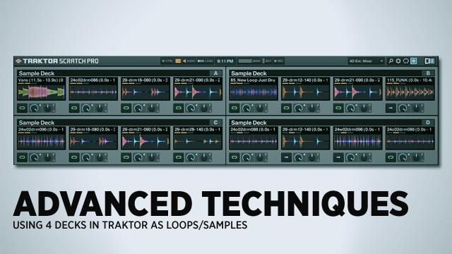 traktor scratch pro 2 sample deck tutorial