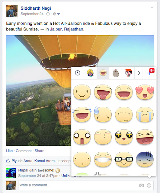 Now You Can Add Stickers In Your Facebook Comments