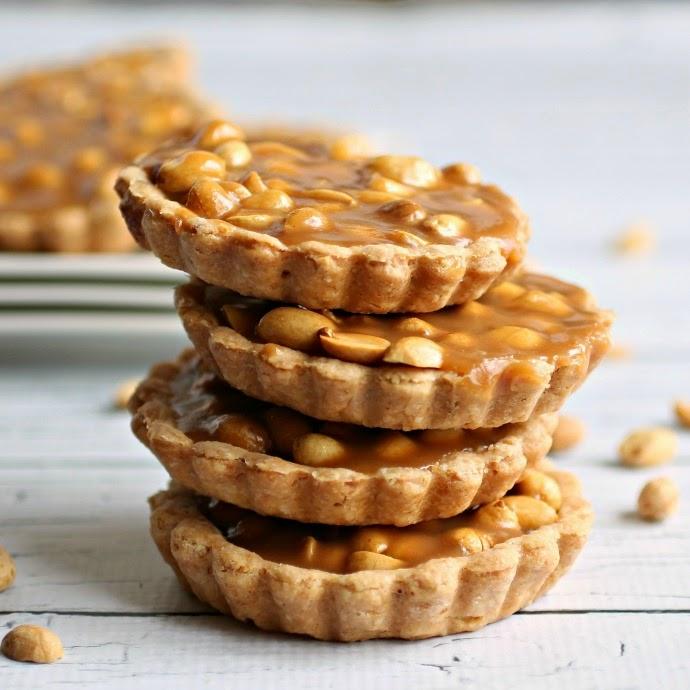 Salted Caramel Peanut Pies