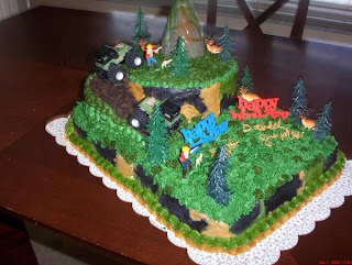 Camo Hunting Birthday Cake Designs