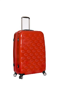 lulu guinness luggage red kiss luggage