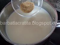 Lapte de pasare preparare reteta