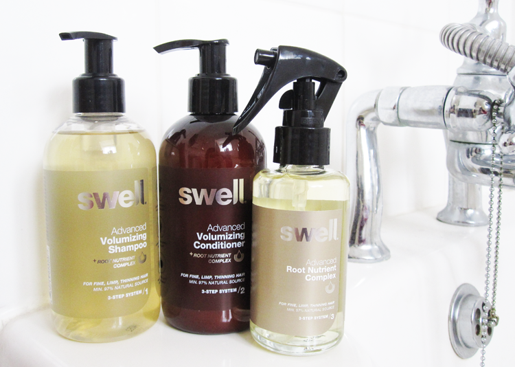 Haircare Review: Swell Hair 3 Step System - Advanced Volumizing Shampoo, Conditioner & Root Nutrient Complex