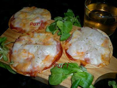 La cocina de puri pastor mini pizzas de obleas for Cocina 5 ingredientes jamie