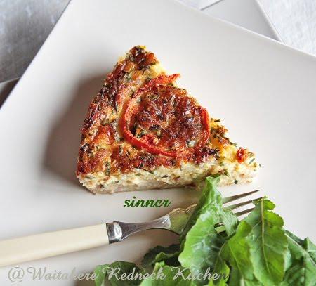 Salmon Ham Quiche