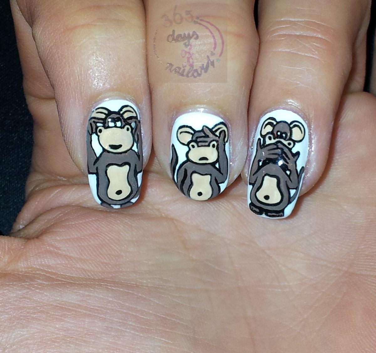 365+ days of nail art: Day 176) Nail art \