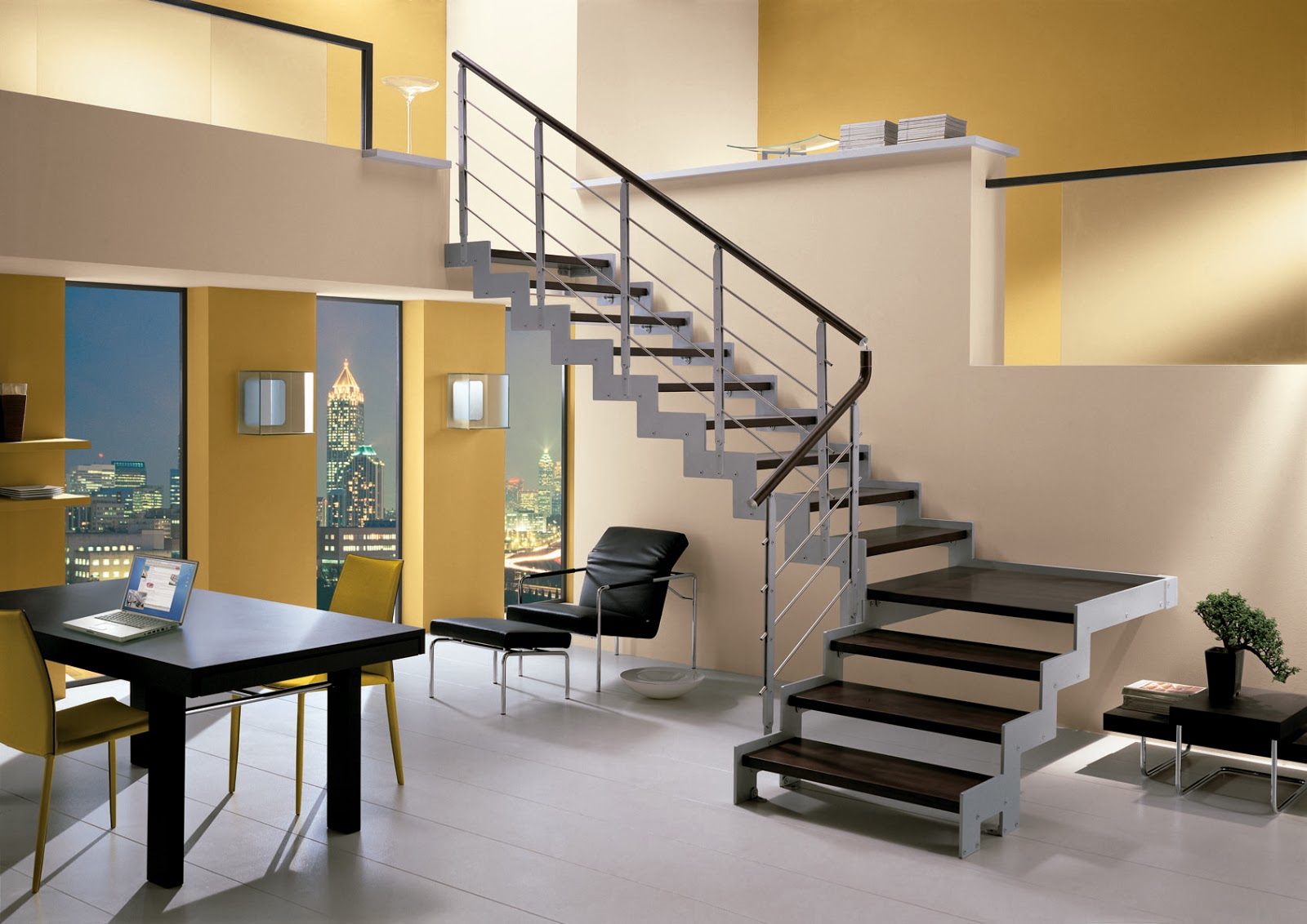 #8B6C35 escada em u essa escada também é da mesma família das escadas em 1600x1132 píxeis em Decoração De Sala Pequena Com Escada